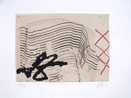 Etching And Aquatint Tàpies - Vuit i tres ics