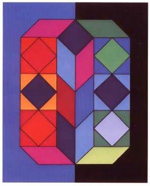 Screenprint Vasarely -  VY-29-G, from album xico portfolio