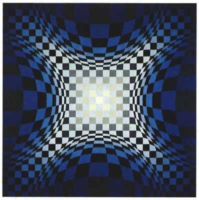 Screenprint Vasarely - VY-47-D, from the portfolio Gaia,