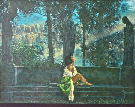 Screenprint Girotto - Waiting for a sunbeam