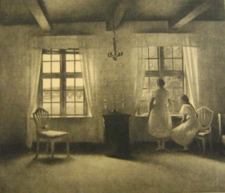 Mezzotint Ilsted - Waiting for the guests
