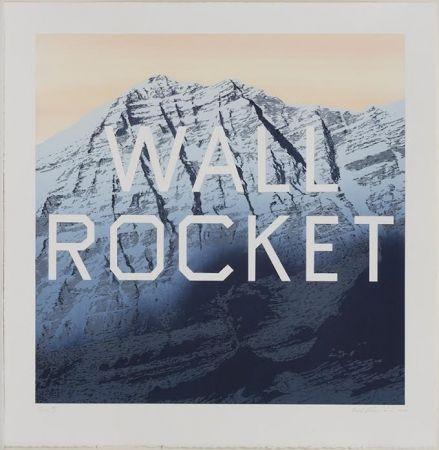 Lithograph Ruscha - Wall Rocket