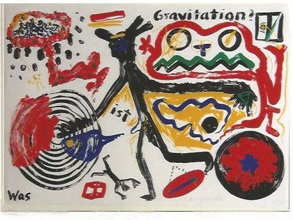 Screenprint Penck - Was ist Gravitation