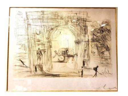 Lithograph Dali - Washington Gate