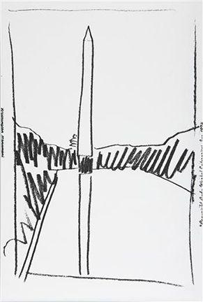 Screenprint Warhol - Washington Monument