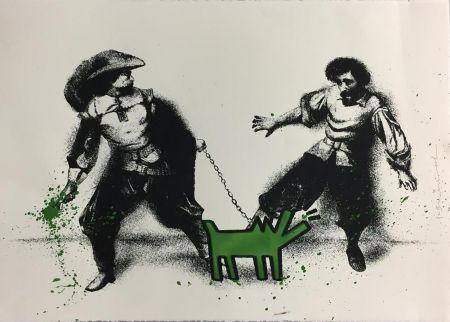 Screenprint Mr Brainwash - Watch Out! (Green)