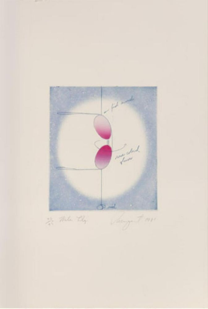 Lithograph Rosenquist - Water Lily