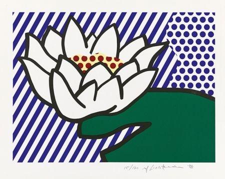 Screenprint Lichtenstein - Water Lily