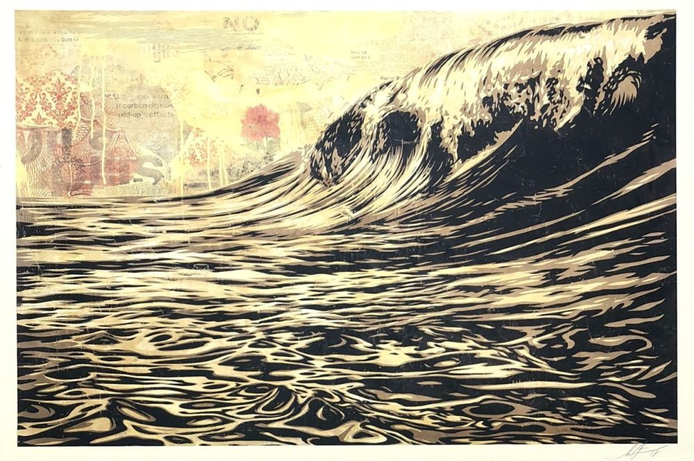 Screenprint Fairey - Wave