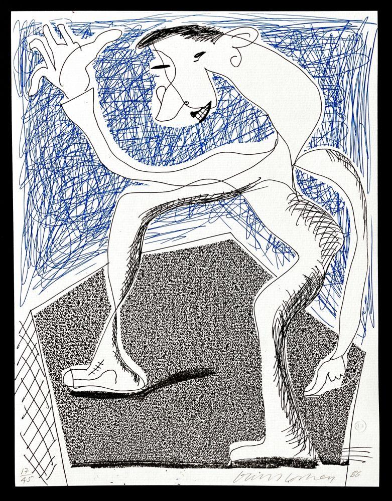 No Technical Hockney -  Waving, April  1986
