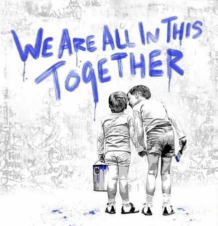 Screenprint Mr Brainwash - We Are All In This Together