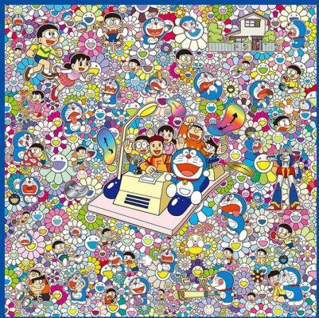 Screenprint Murakami - WE CAN GO ANYWHERE WITH MR. FUJIKO F. FUJIO AND THE TIME MACHINE!