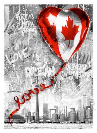 Screenprint Mr. Brainwash - We Love Canada