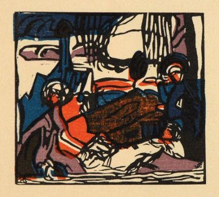 Woodcut Kandinsky - Weisser Klang