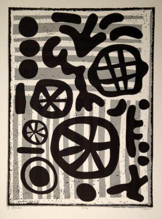 Linocut Nebel - Werknummer 595/1964
