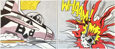 Lithograph Lichtenstein - 'WHAAM! (Diptych)' Pop Art Poster Print Set