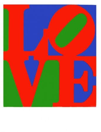 Screenprint Indiana - Wherefore the Punctuation of the Heart from The Book of Love
