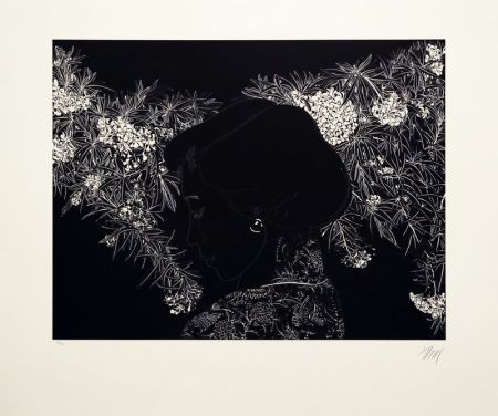 Lithograph Leng - Whispering