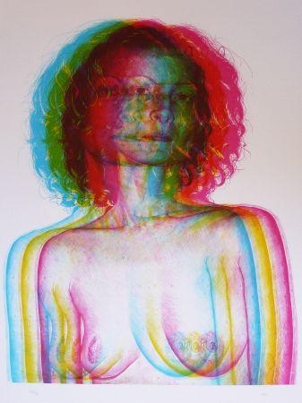 Lithograph Rodriguez - White 1