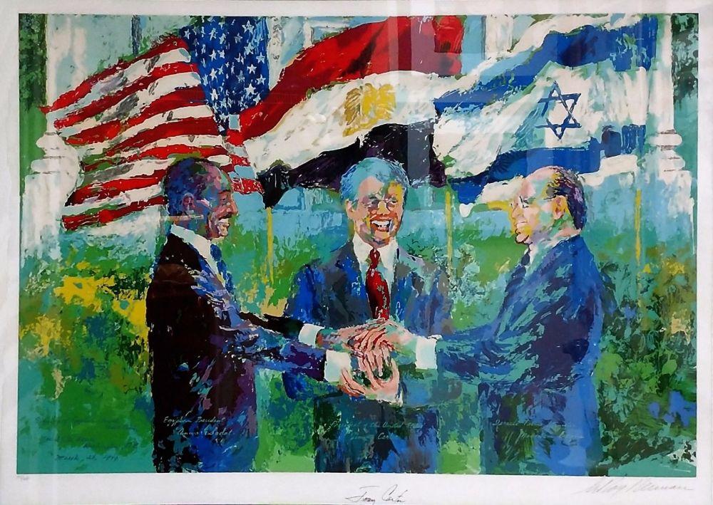 Screenprint Neiman - WHITE HOUSE SIGNING OF EGYPTIAN ISRAELI PEACE TREATY