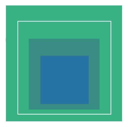 Lithograph Albers - White Line Square III, 1966