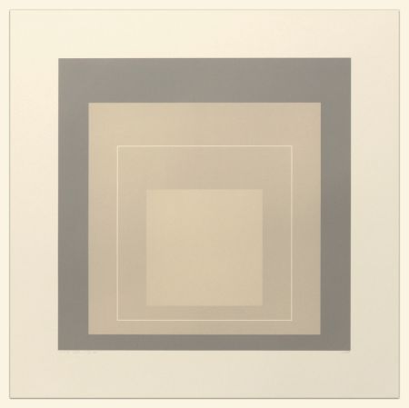 Lithograph Albers - White Line Squares (Series II), XIV