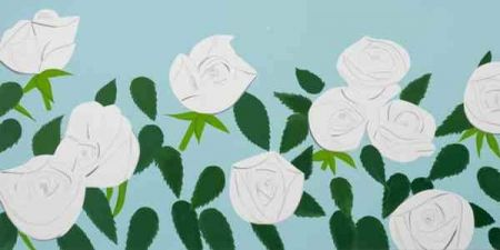 Screenprint Katz - White Roses