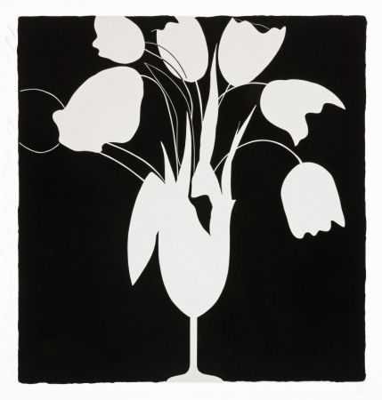 Screenprint Sultan - White Tulips and Vase