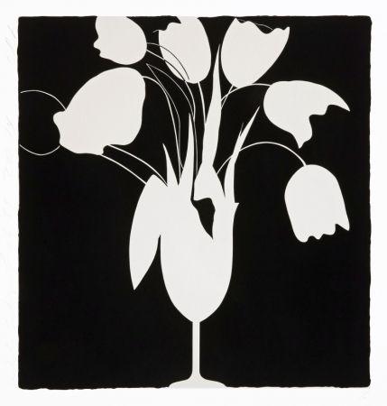 Screenprint Sultan - White Tulips and Vase