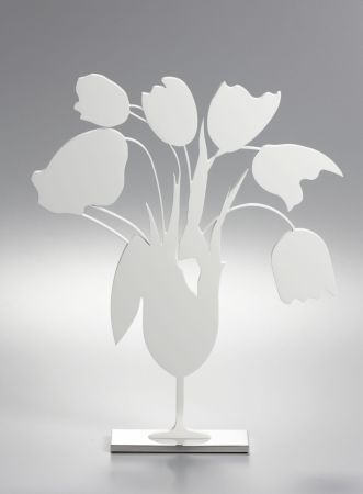 No Technical Sultan - White tulips and vase, April 4, (Sculpture)