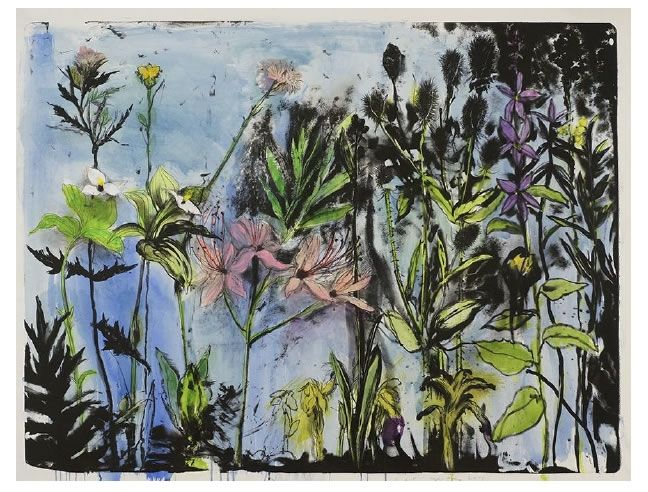 Lithograph Dine - Wildflowers in New York I
