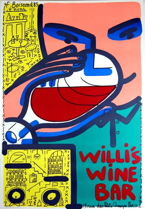 Lithograph Boisrond - Willis Wine Bar