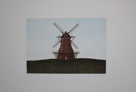 Etching And Aquatint Moritz - Windmühle