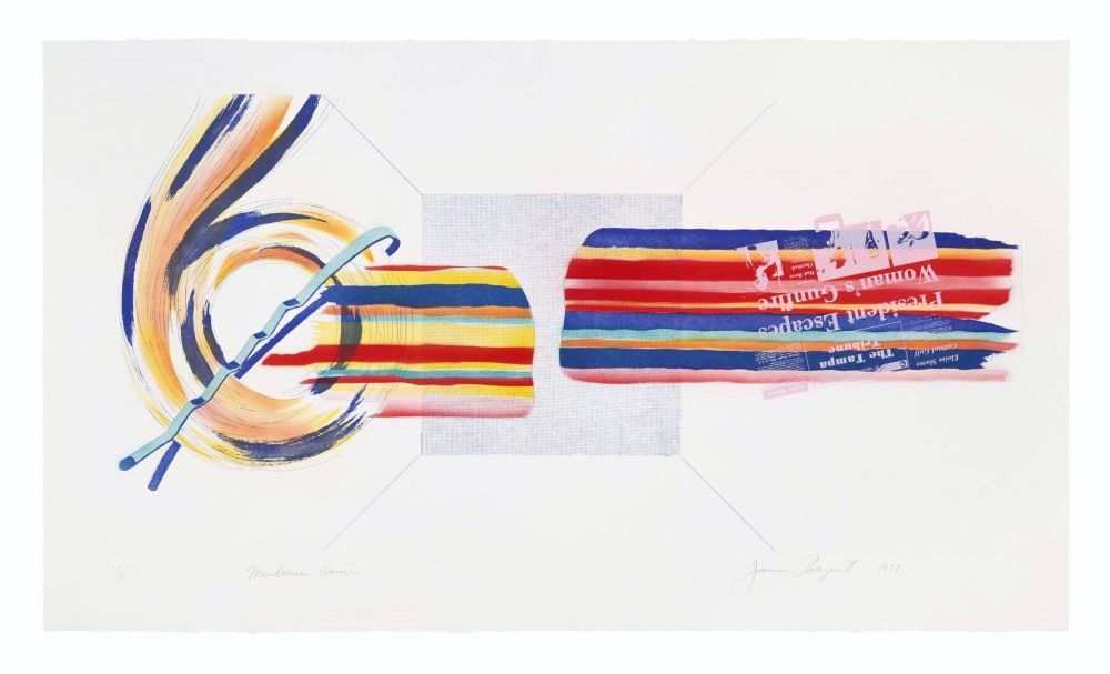 Etching And Aquatint Rosenquist - Windscreen Horizon