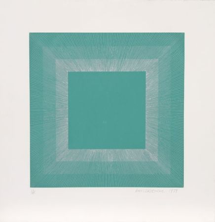 Aquatint Anuszkiewicz - Winter Suite (Green with Silver)