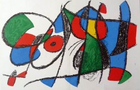 Lithograph Miró - Without title