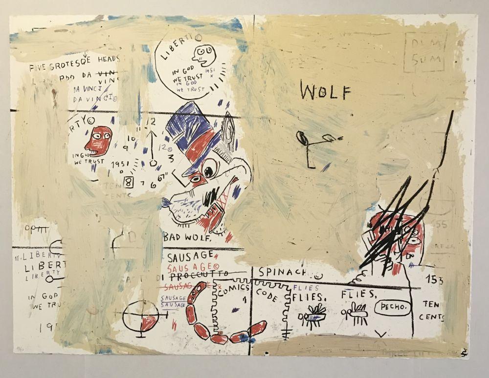 Screenprint Basquiat - Wolf Sausage