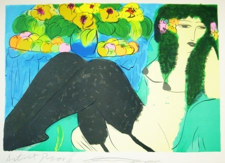 Lithograph Ting - Woman 17