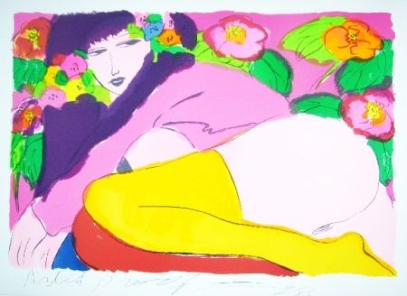 Lithograph Ting - Woman 19