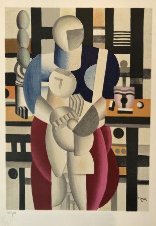 Lithograph Leger - Woman and Child (La femme et l'enfant)