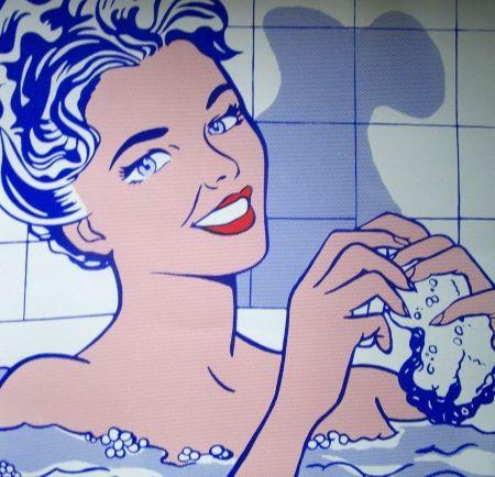 Screenprint Lichtenstein - Woman in the bath