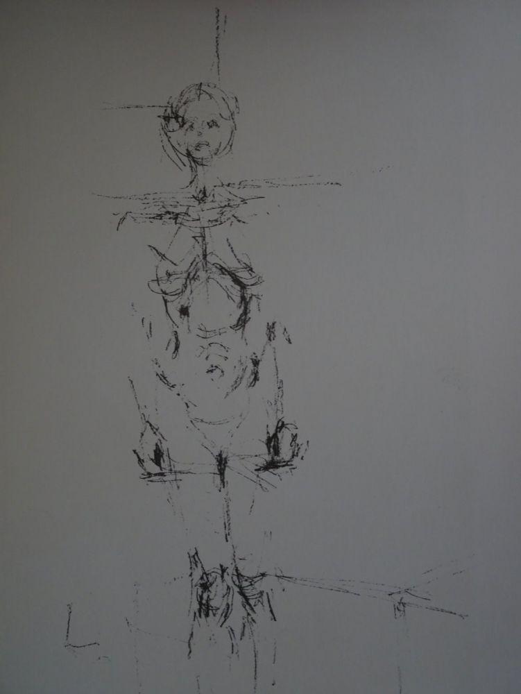 Lithograph Giacometti - Woman standing