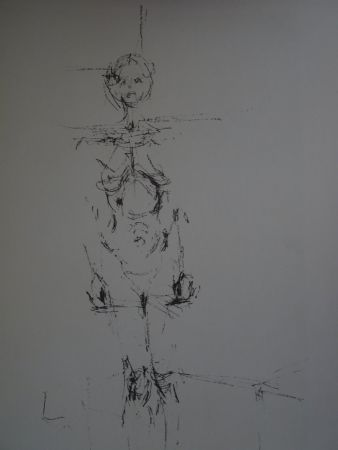 Lithograph Giacometti - Woman standing