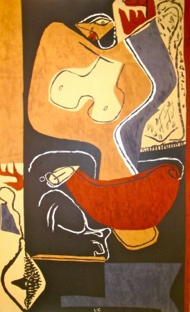 Lithograph Le Corbusier - Woman with rising Hand