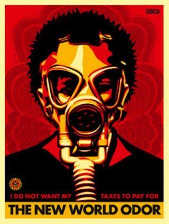 Screenprint Fairey - World Odor
