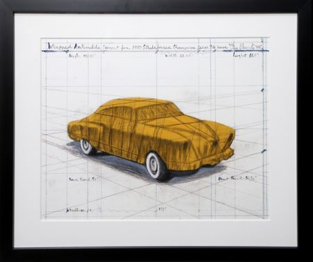 Screenprint Christo - Wrapped Automobile (Project for 1950 Studebaker Champion Series)