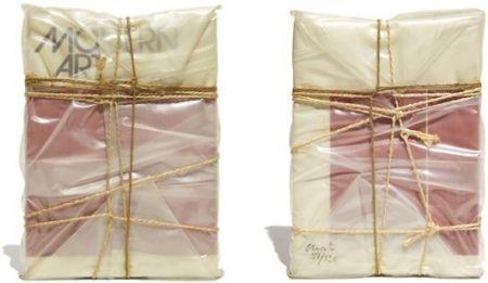 Multiple Christo - Wrapped Book Modern Art