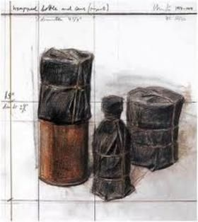 Lithograph Christo - Wrapped Bottle and Cans (Project)
