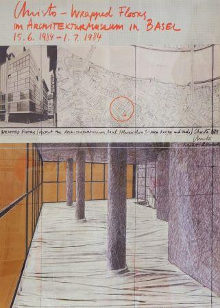 Poster Christo - Wrapped floors Architekturmuseum Basel