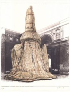 Lithograph Christo - Wrapped Monument to Leonardo